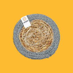 Seagrass & Jute Coaster in Grey