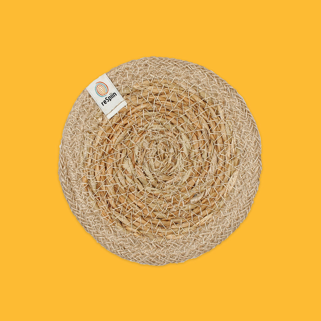 Seagrass & Jute Coaster in Natural