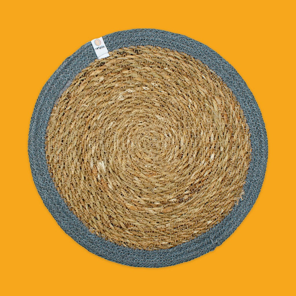 Seagrass & Jute Tablemat in Grey