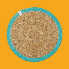 Seagrass & Jute Tablemat in Turquoise