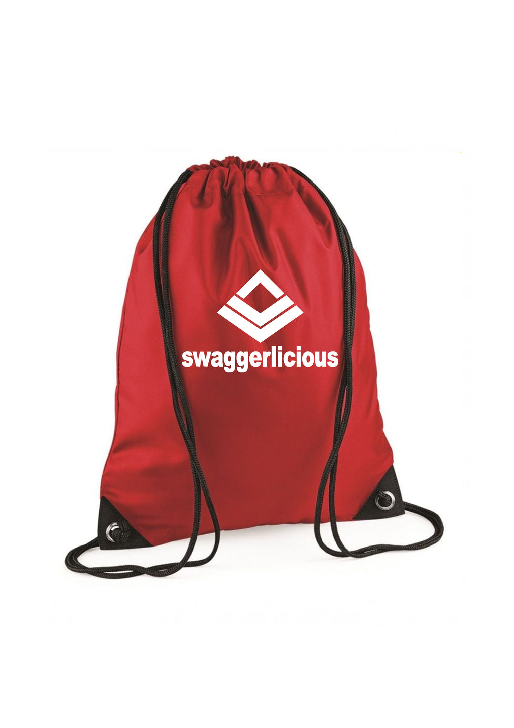 RED SWAGGERLICIOUS GYM SACK - swaggerlicious-clothing.com