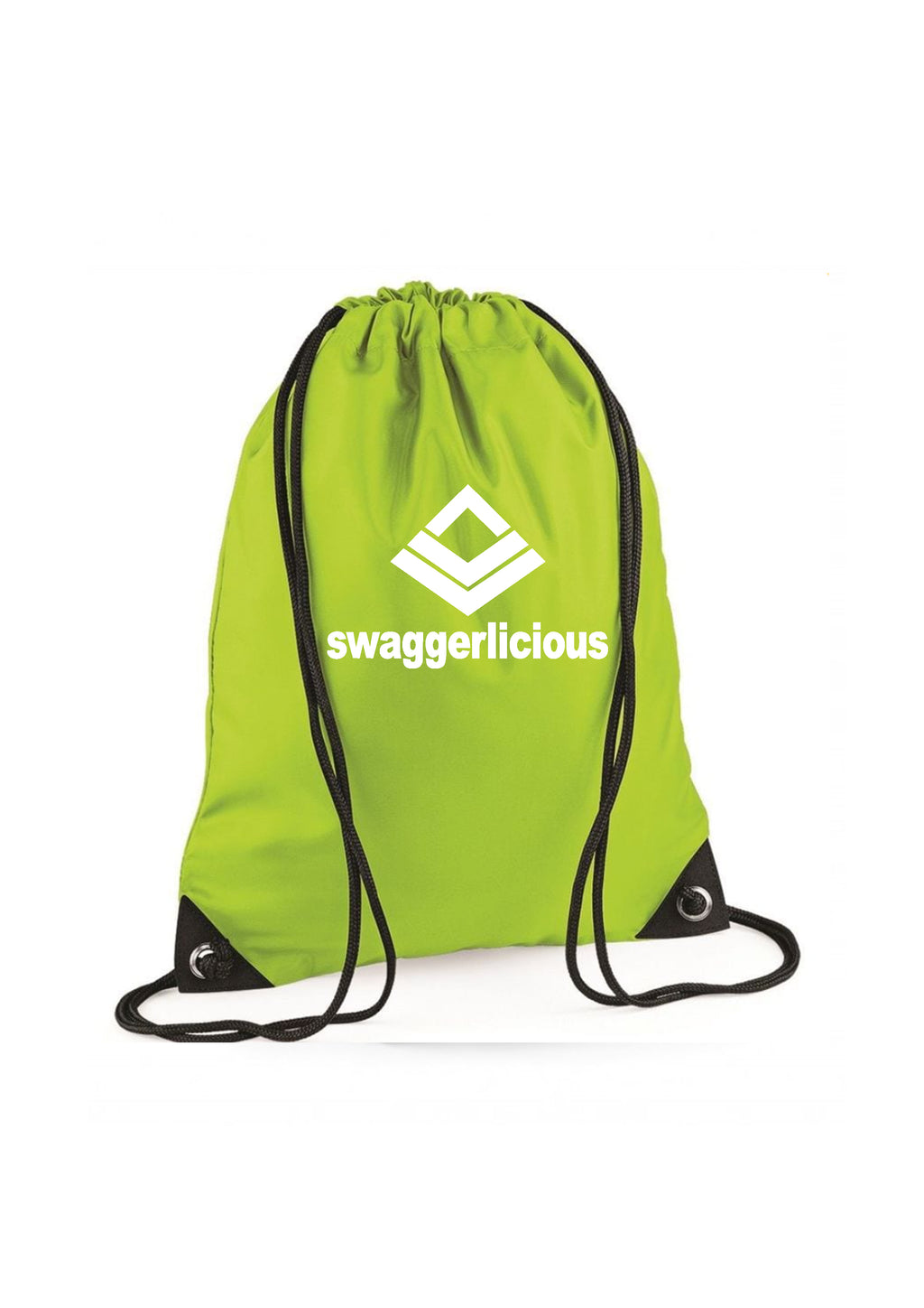 LIME GREEN SWAGGERLICIOUS GYM SACK - swaggerlicious-clothing.com