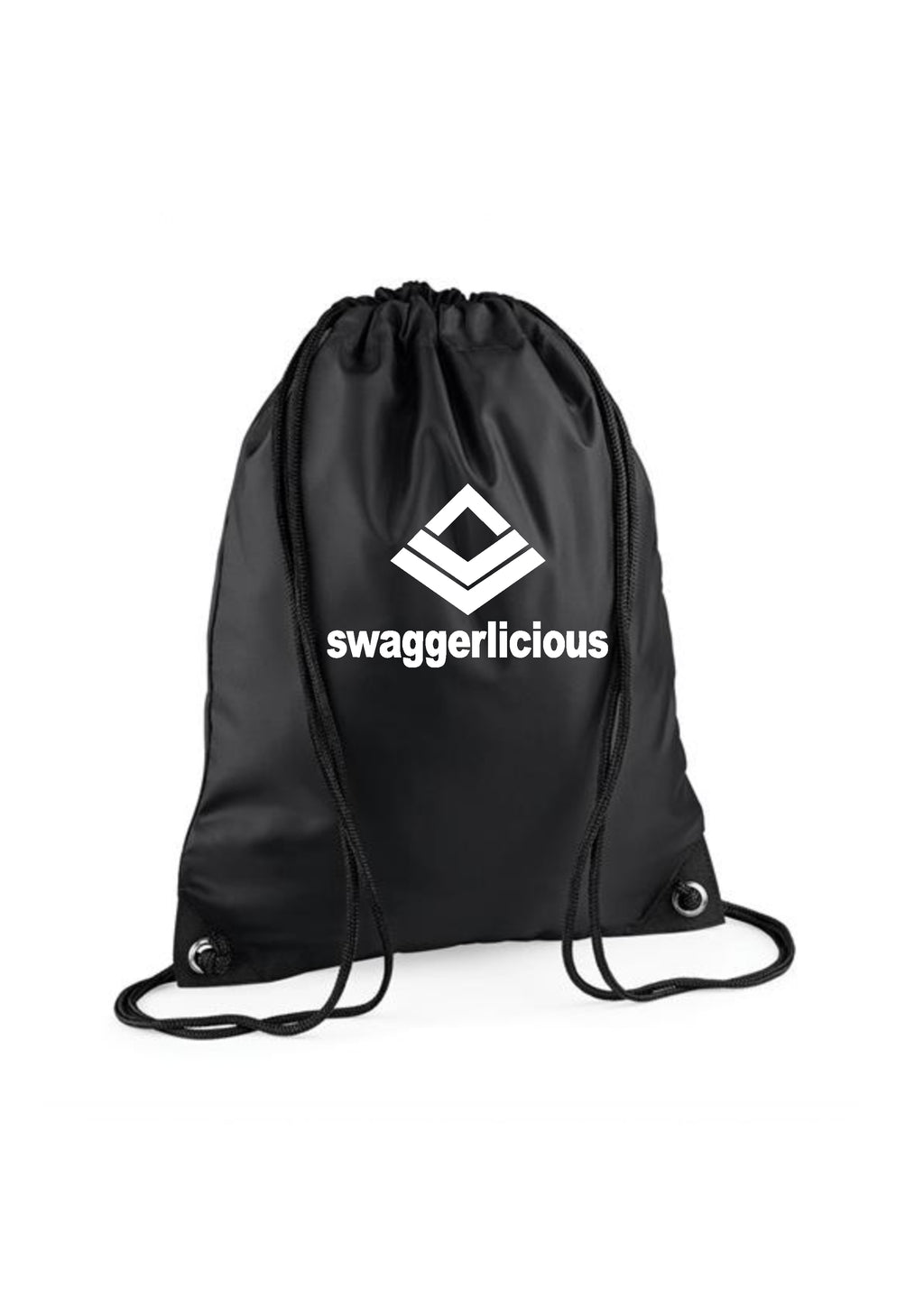 Swaggerlicious Black Gym Sack - swaggerlicious-clothing.com