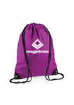 PURPLE SWAGGERLICIOUS GYM SACK - swaggerlicious-clothing.com