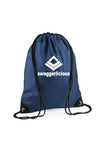 NAVY BLUE SWAGGERLICIOUS GYM SACK - swaggerlicious-clothing.com