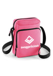 Swaggerlicious Pink Sports Messenger Bag with White Logo