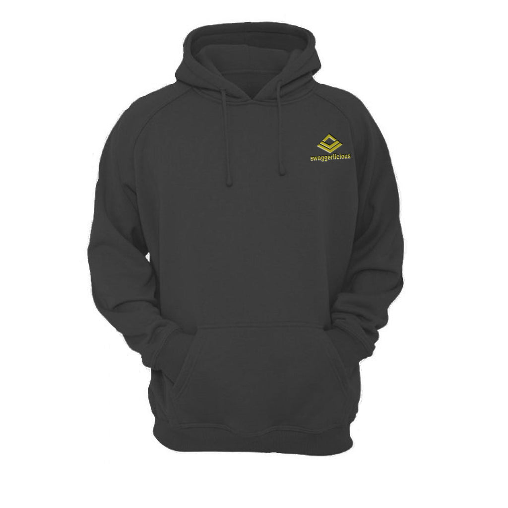 SWAGGERLICIOUS KIDS CLASSIC BLACK HOODIE WITH MINI GOLD LOGO - swaggerlicious-clothing.com
