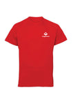 Fire Red Swaggerlicious Active Dry T-Shirt with White Logo - swaggerlicious-clothing.com