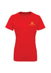 Swaggerlicious Fire Red Active Sports Tee with Gold Logo
