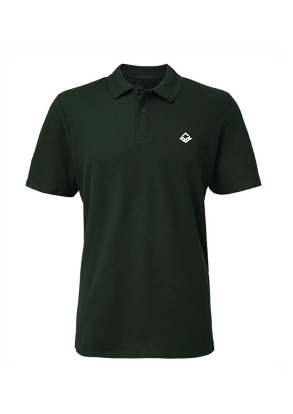 Swaggerlicious Forest Green Simple Polo Shirt with White Logo