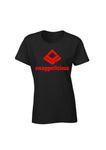BLACK SWAGGERLICIOUS DRIP T-SHIRT WITH RED LOGO - swaggerlicious-clothing.com