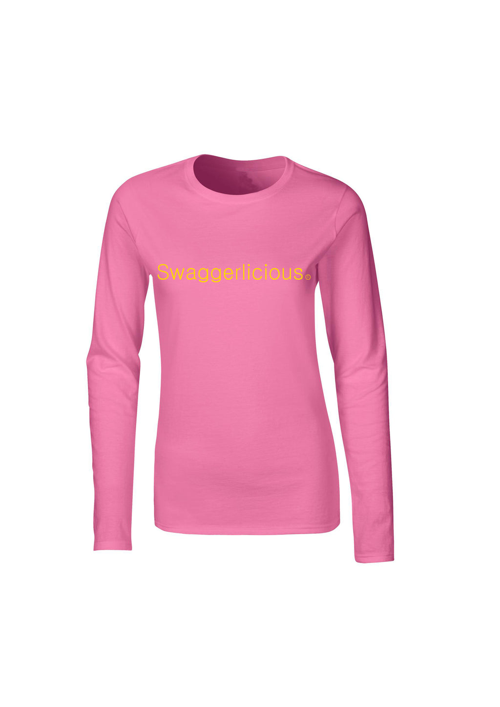 PINK SWAGGERLICIOUS LADIES LONG SLEEVE TOP - swaggerlicious-clothing.com