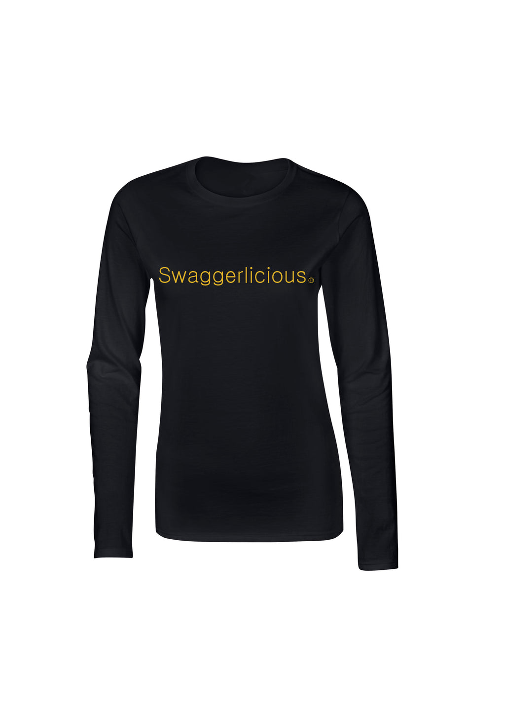 Swaggerlicious Black Ladies Long Sleeve Top - swaggerlicious-clothing.com