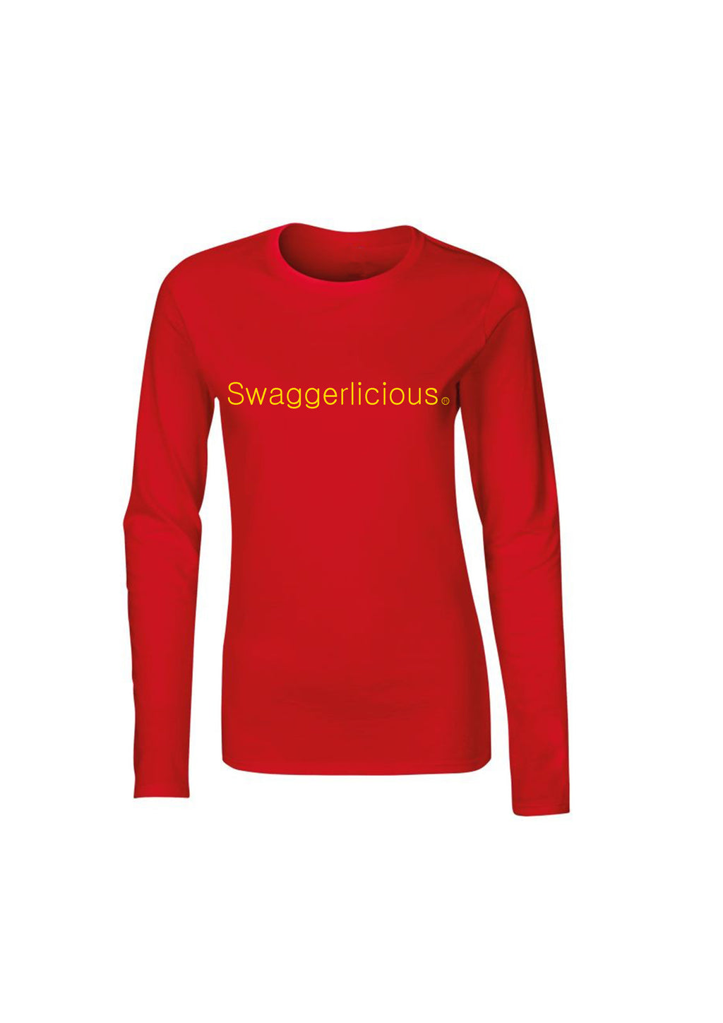 RED SWAGGERLICIOUS LADIES LONG SLEEVE TOP - swaggerlicious-clothing.com