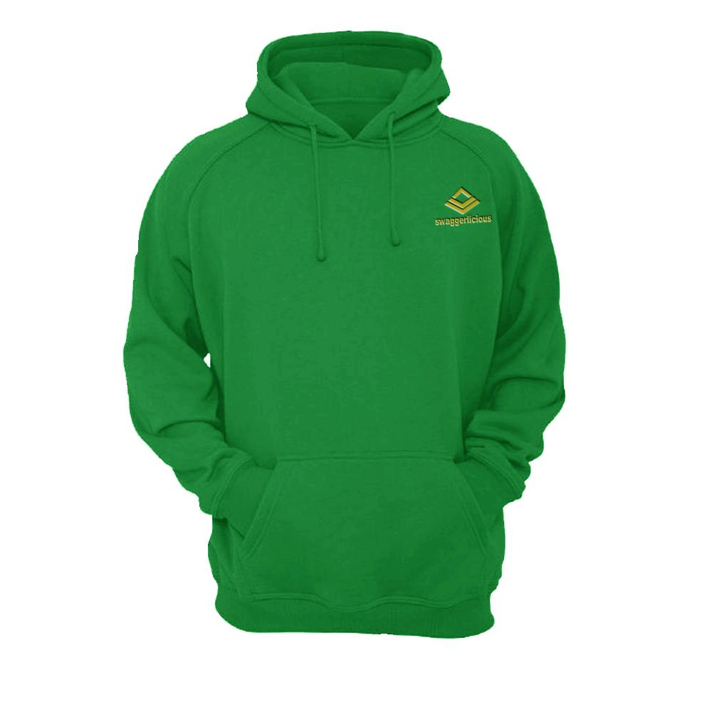 SWAGGERLICIOUS KIDS CLASSIC GREEN HOODIE WITH MINI GOLD LOGO - swaggerlicious-clothing.com