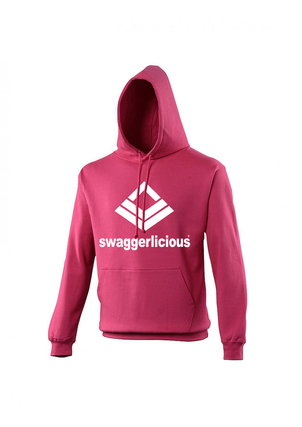 Swaggerlicious Classic Sports Fuchsia Hoodie - swaggerlicious-clothing.com