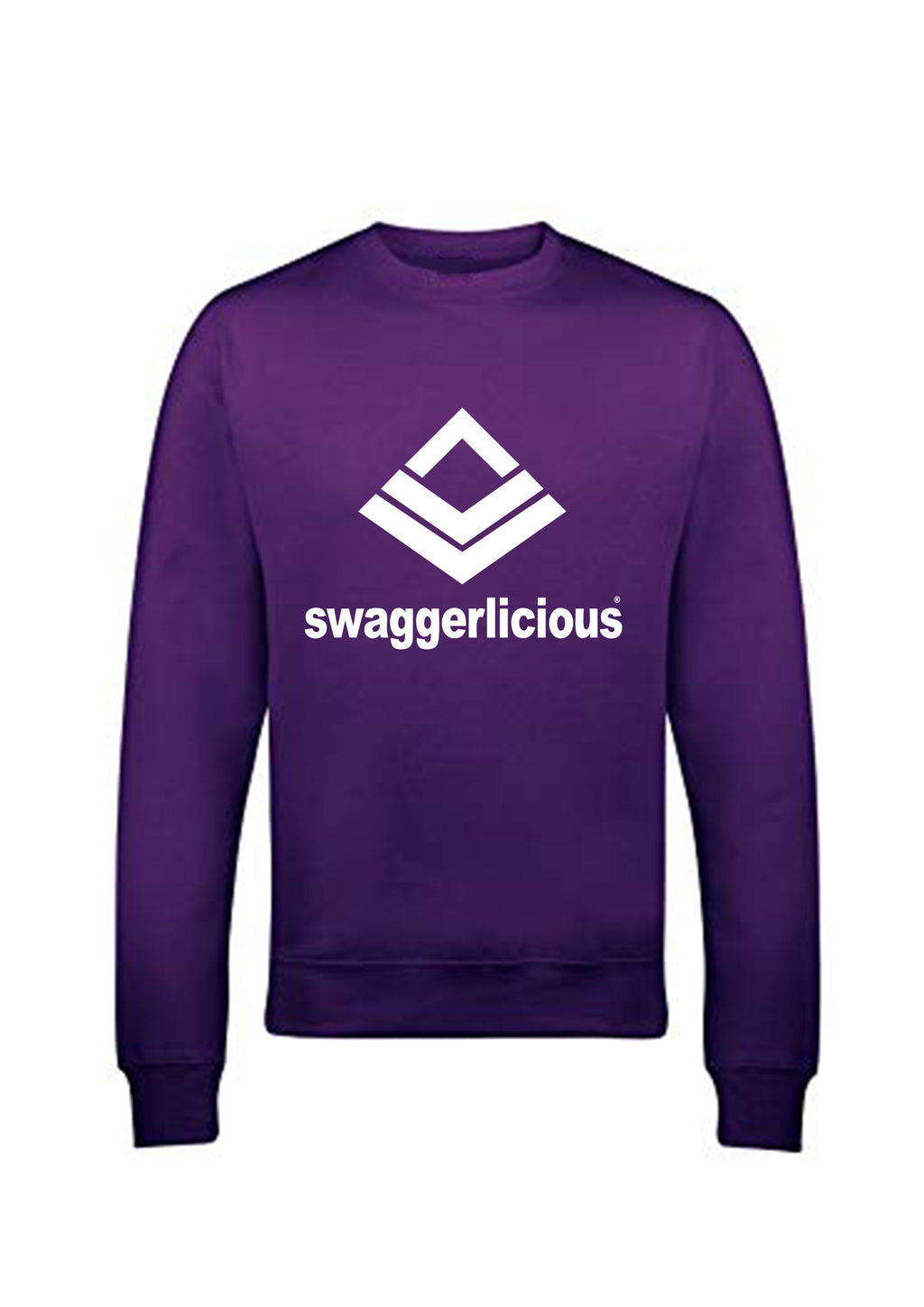 Swaggerlicious Classic Sports Purple Sweatshirt - swaggerlicious-clothing.com