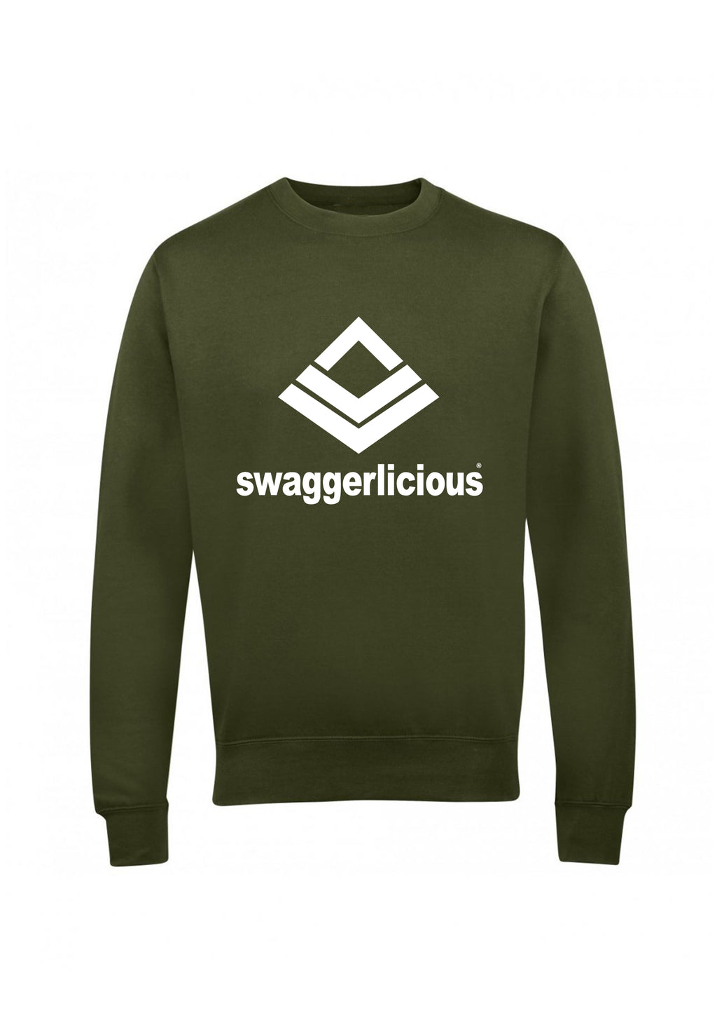 Swaggerlicious Classic Sports Olive Green Sweatshirt - swaggerlicious-clothing.com