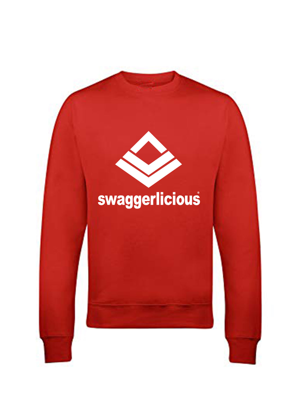 Swaggerlicious Classic Sports Red Sweatshirt - swaggerlicious-clothing.com