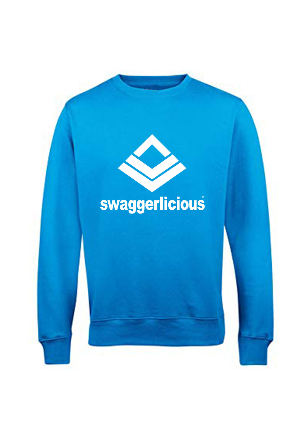 Swaggerlicious Classic Sports Sapphire Blue Sweatshirt - swaggerlicious-clothing.com