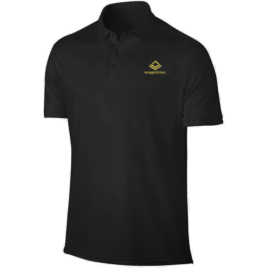 SWAGGERLICIOUS KIDS CLASSIC BLACK POLO T-SHIRT WITH MINI GOLD LOGO - swaggerlicious-clothing.com