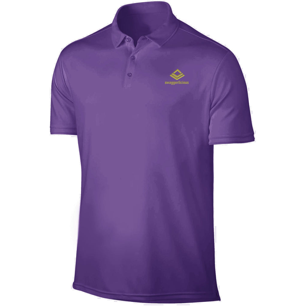 SWAGGERLICIOUS KIDS CLASSIC PURPLE POLO T-SHIRT WITH MINI GOLD LOGO - swaggerlicious-clothing.com