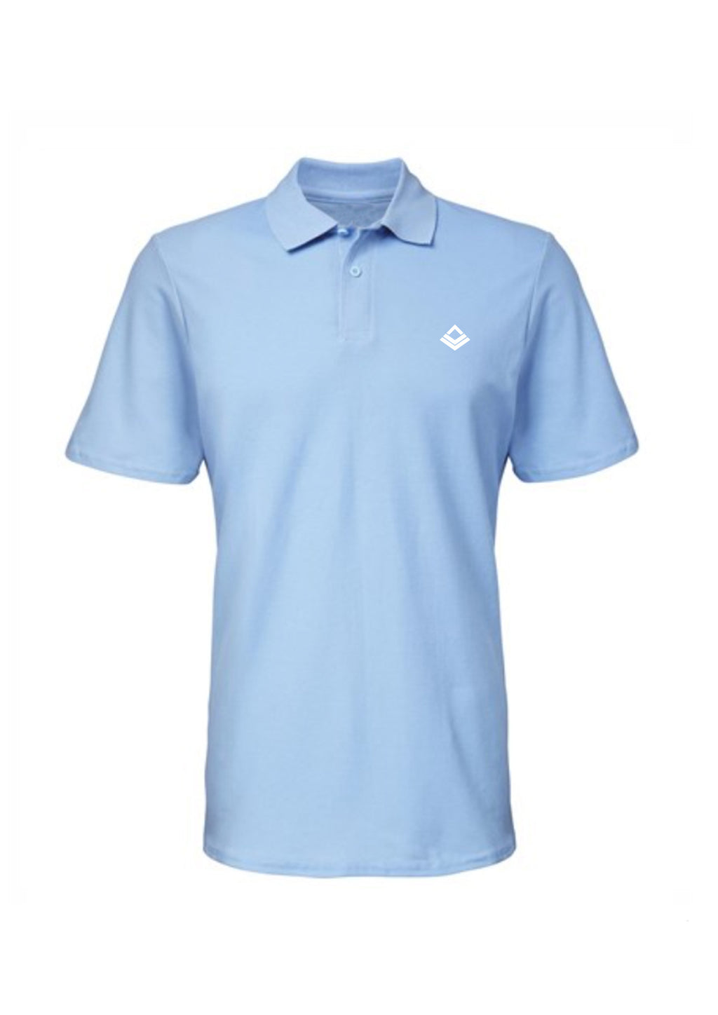 Swaggerlicious Light Blue Simple Polo Shirt with White Logo