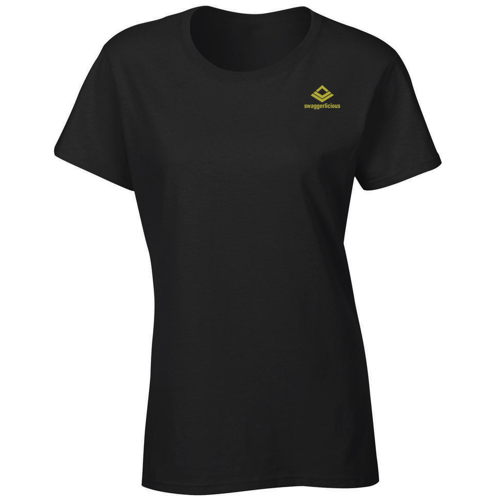 Swaggerlicious Classic Ladies Black Stretch T-Shirt - swaggerlicious-clothing.com