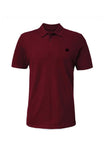 Swaggerlicious Maroon Simple Polo Shirt with Black Logo