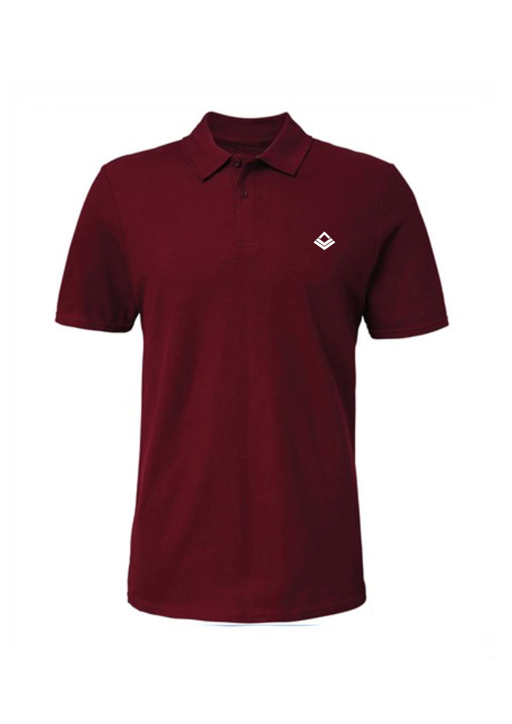 Swaggerlicious Maroon Simple Polo Shirt with White Logo