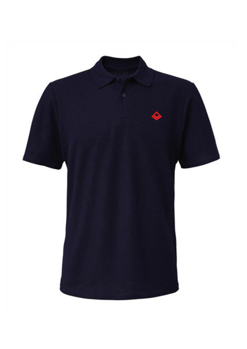Swaggerlicious Navy Simple Polo Shirt with Red Logo