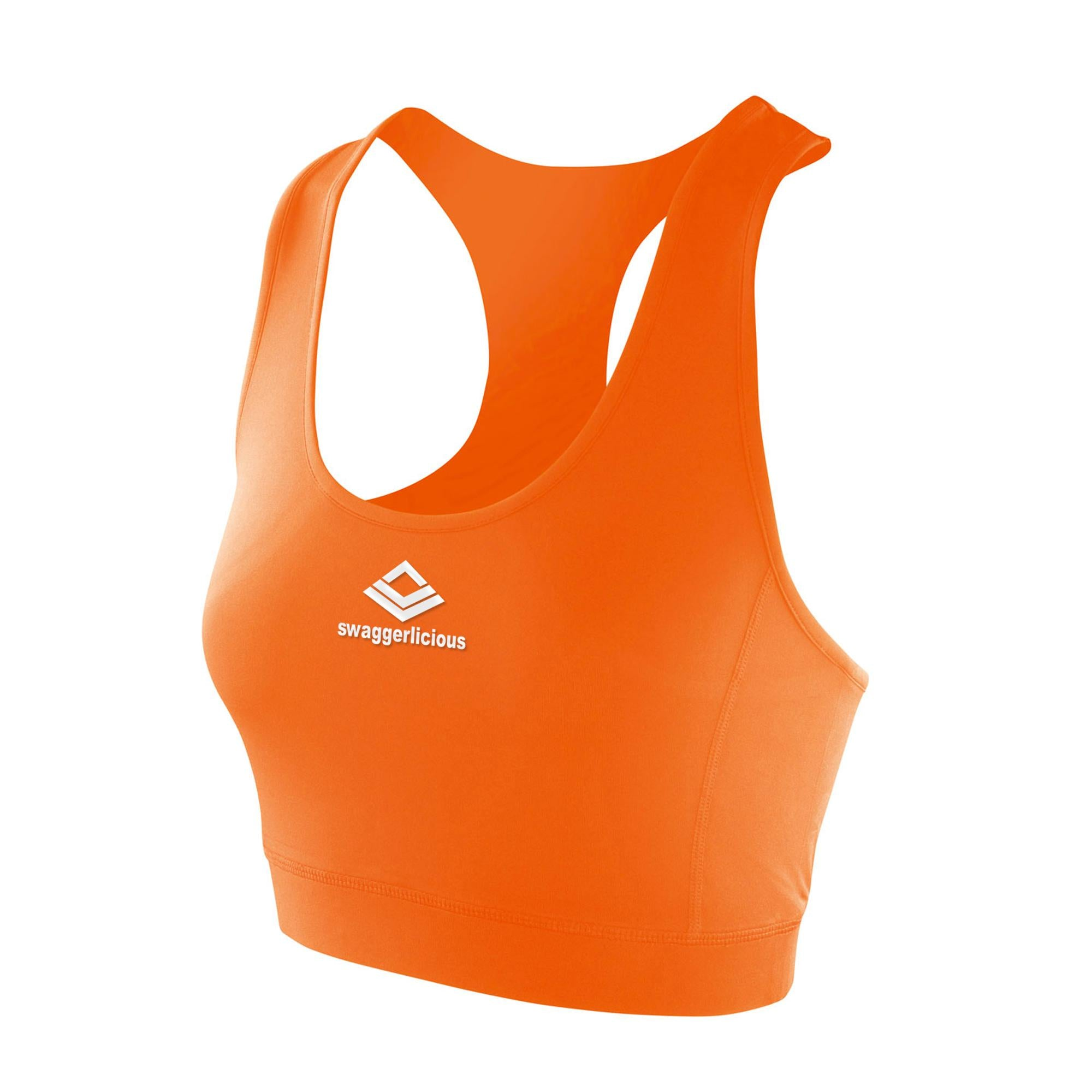 SWAGGERLICIOUS FIT TANGERINE CROP TOP - swaggerlicious-clothing.com