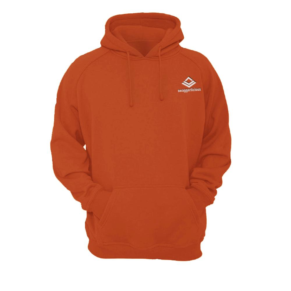 SWAGGERLICIOUS KIDS CLASSIC ORANGE HOODIE WITH MINI WHITE LOGO - swaggerlicious-clothing.com