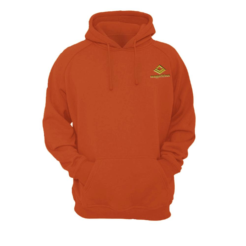 SWAGGERLICIOUS KIDS CLASSIC ORANGE HOODIE WITH MINI GOLD LOGO - swaggerlicious-clothing.com