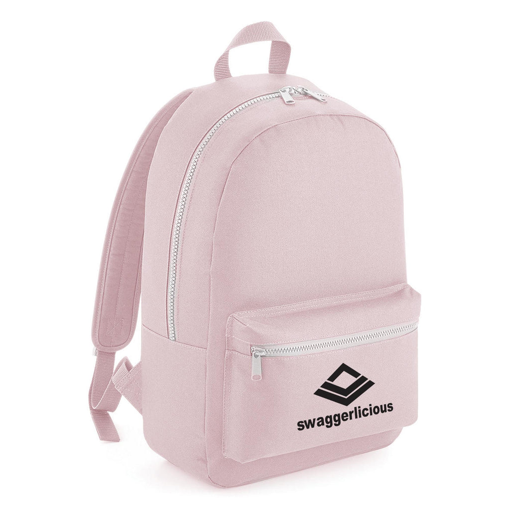Swaggerlicious Classic Pink Backpack with Black Logo - swaggerlicious-clothing.com
