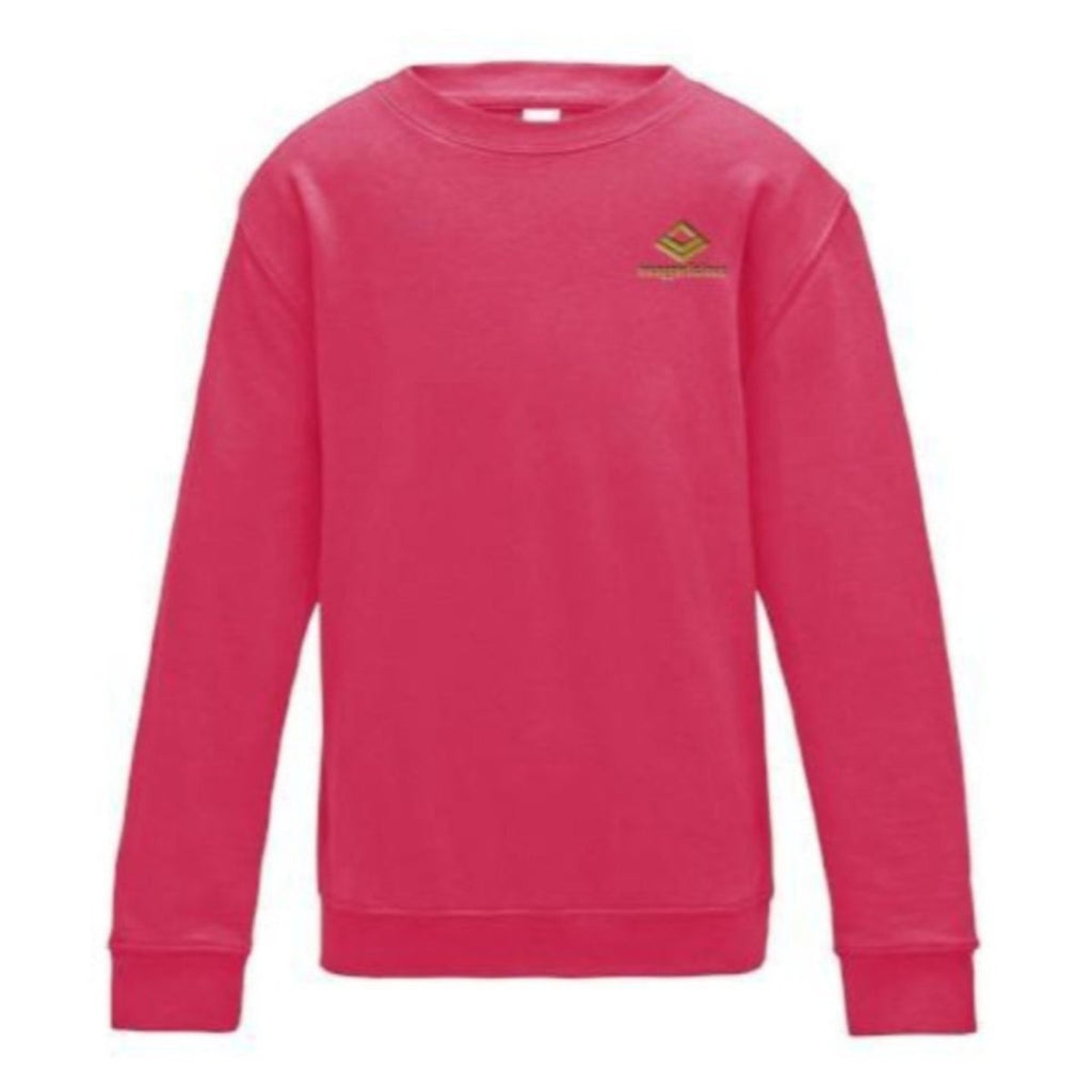 Swaggerlicious Classic Pink Sweatshirt With Mini Gold Logo - swaggerlicious-clothing.com