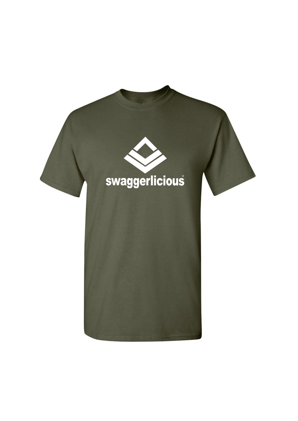 Swaggerlicious Classic Olive Green Sports Tee - swaggerlicious-clothing.com