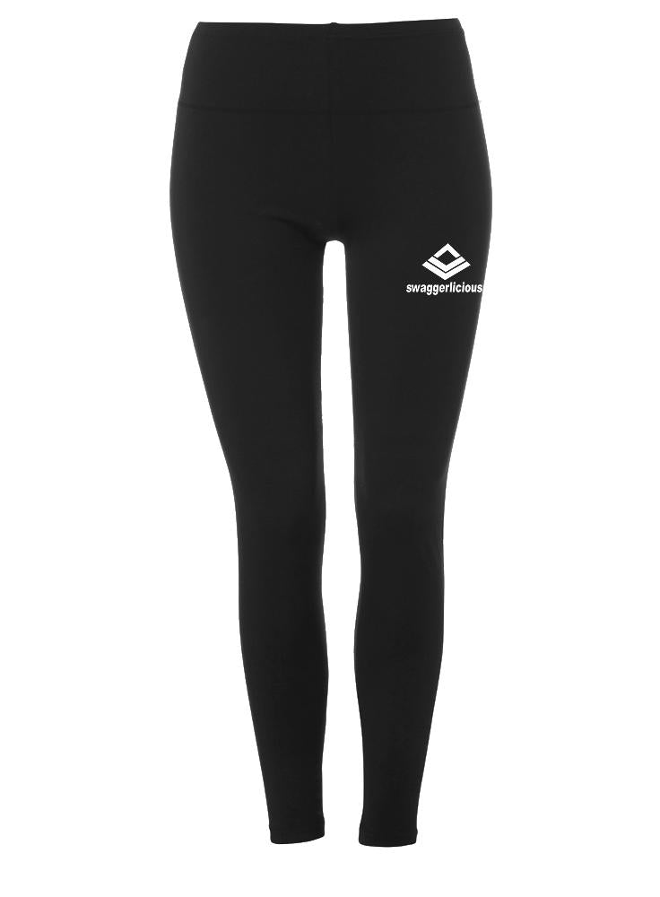 SWAGGERLICIOUS SLEEK BLACK ATHLETIC LEGGINGS - swaggerlicious-clothing.com