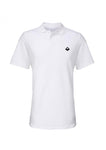 Swaggerlicious White Simple Polo Shirt with Black Logo