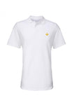 Swaggerlicious White Simple Polo Shirt with Gold Logo