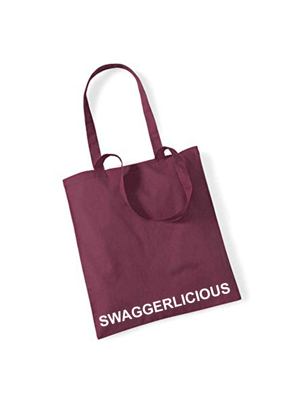 Swaggerlicious Burgundy Tote Bag - swaggerlicious-clothing.com