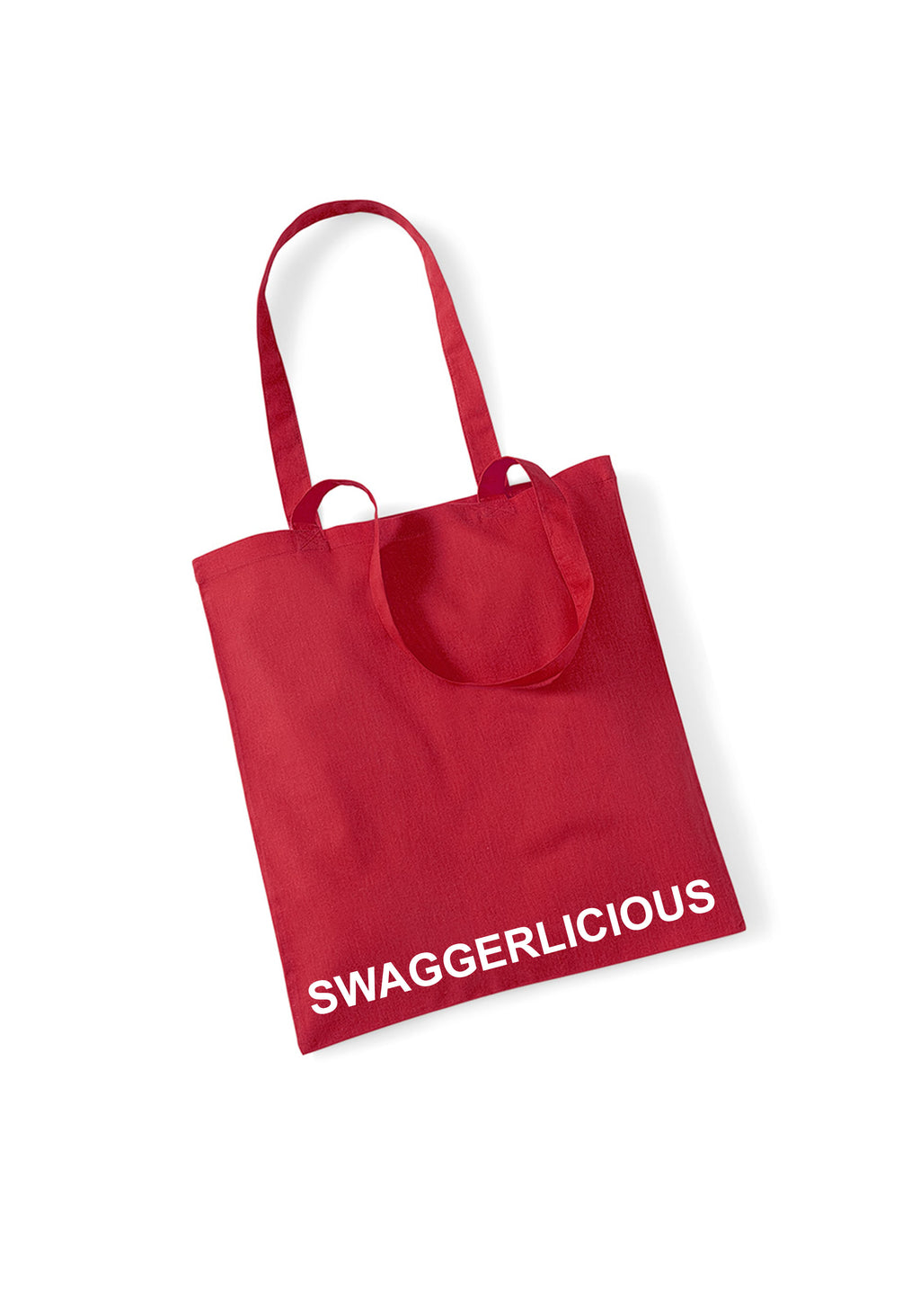 RED SWAGGERLICIOUS TOTE BAG - swaggerlicious-clothing.com