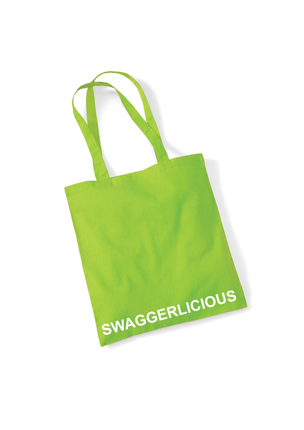 LIME GREEN SWAGGERLICIOUS TOTE BAG - swaggerlicious-clothing.com