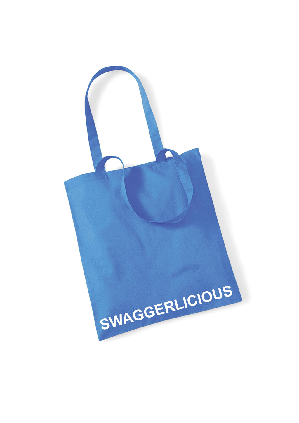 Swaggerlicious Bright Blue Tote Bag - swaggerlicious-clothing.com