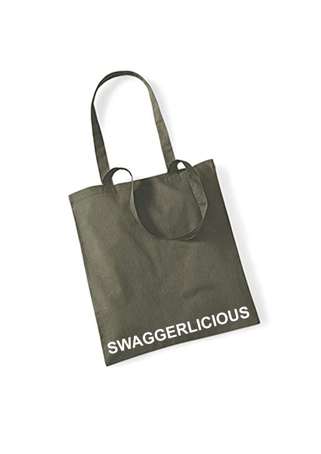 OLIVE GREEN SWAGGERLICIOUS TOTE BAG - swaggerlicious-clothing.com
