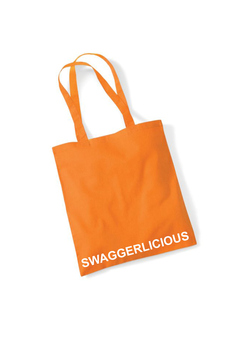 ORANGE SWAGGERLICIOUS TOTE BAG - swaggerlicious-clothing.com