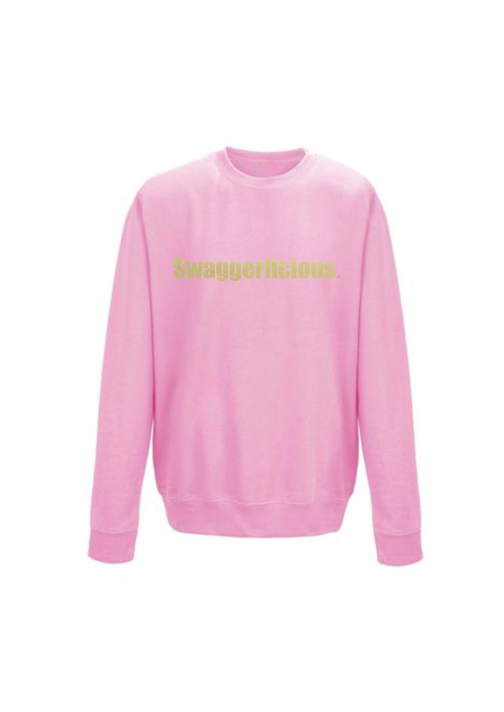 SWAGGERLICIOUS IMPACT SWEATSHIRT - BABY PINK - swaggerlicious-clothing.com