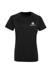 Swaggerlicious Black Active Sports Tee with White Logo - swaggerlicious-clothing.com