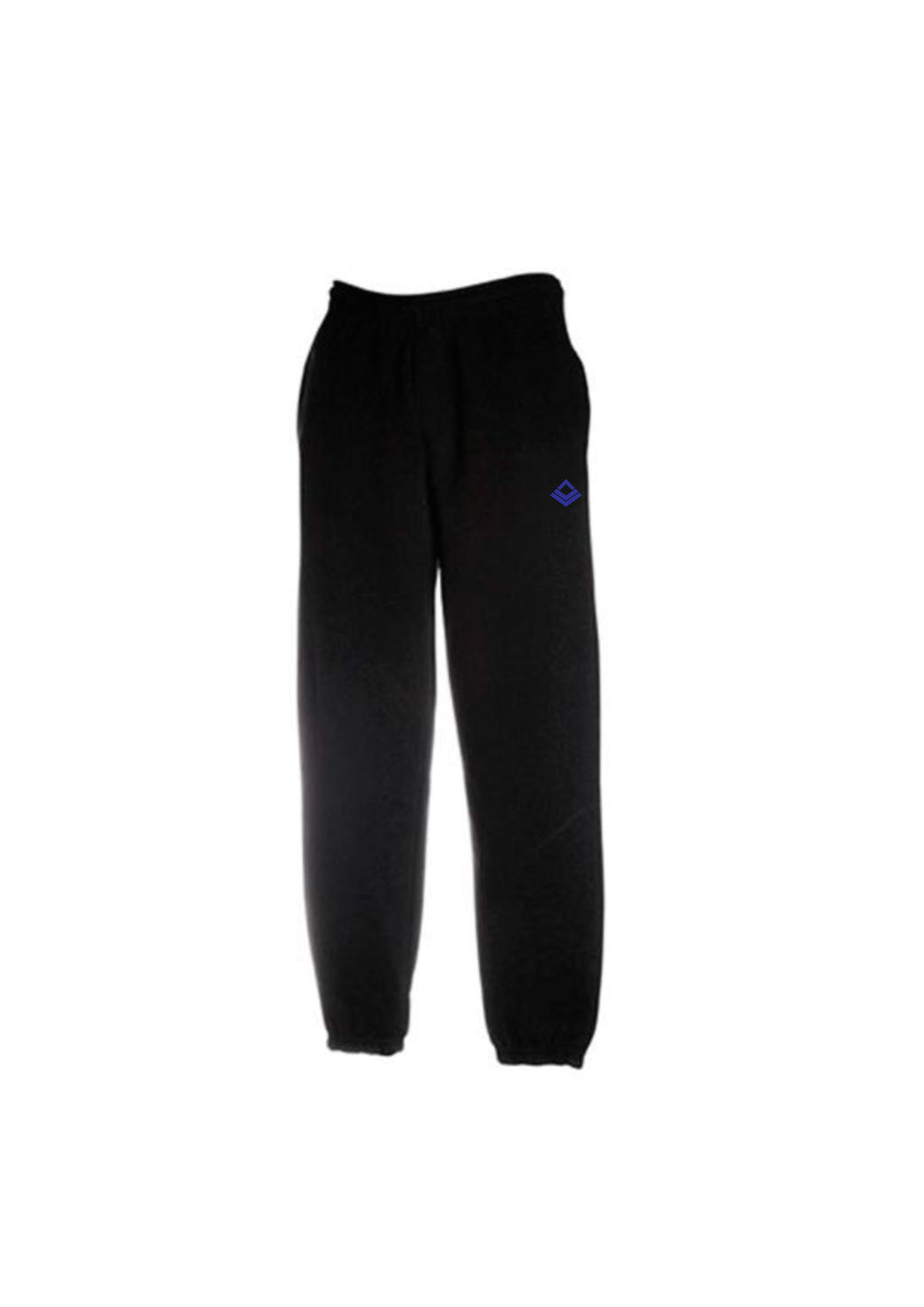 Swaggerlicious Premium Black Jogging Pants with Dark Blue Logo
