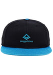 SWAGGERLICIOUS KIDS CLASSIC BLUE AND BLACK SNAPBACK CAP WITH BLUE LOGO - swaggerlicious-clothing.com